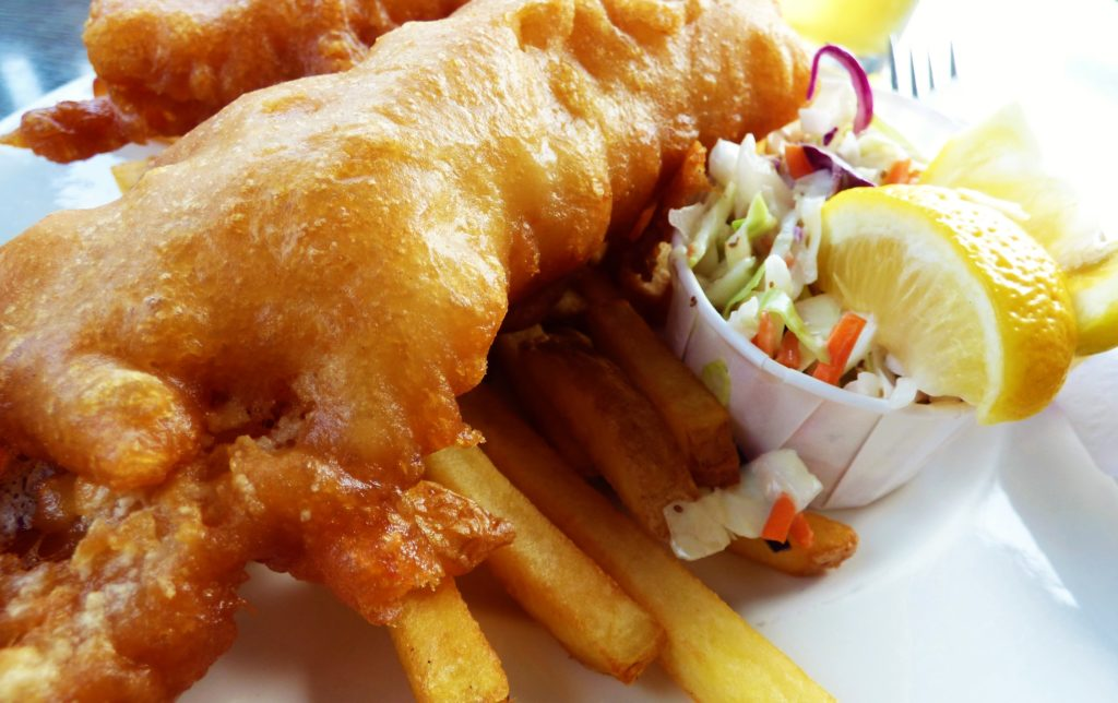 Molly's Reach famour fish 'n' chips