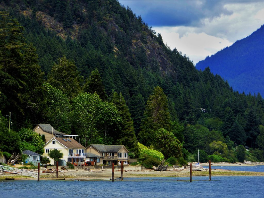 View from Gibsons Landing, British Columbia