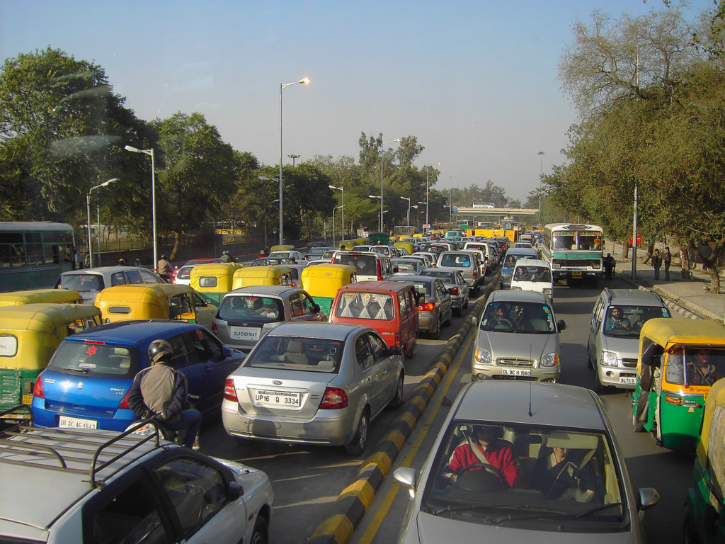 New Delhi traffic. Photo by Denisbin