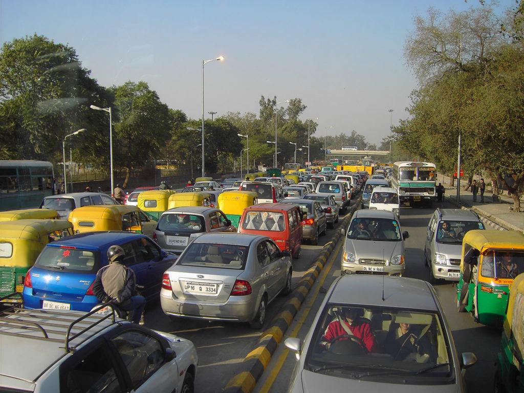 New Delhi traffic. Photo by Denisbin