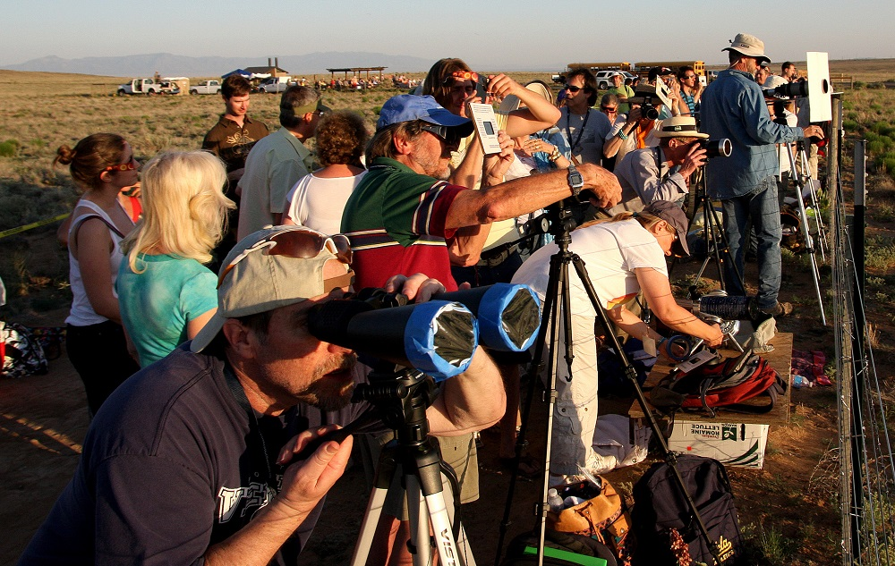Safe eclipse viewing at the Petroglyph National Monument Annular Eclipse Event..