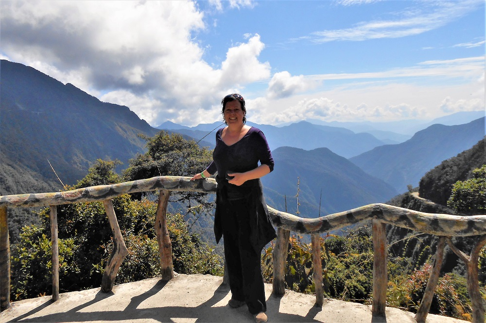 On the Death Road in Bolivia.