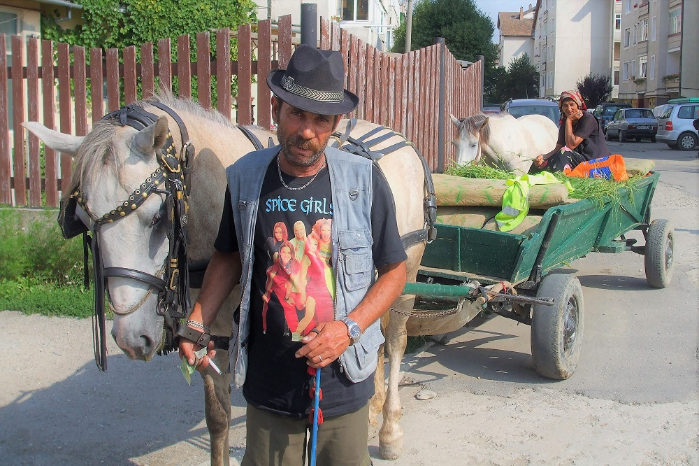 Romania gypsy farmer spice girls Transylvania Sighisoara