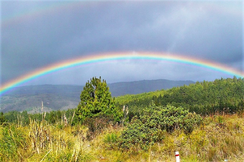 Rainbow, Ecuador valley, Peru.