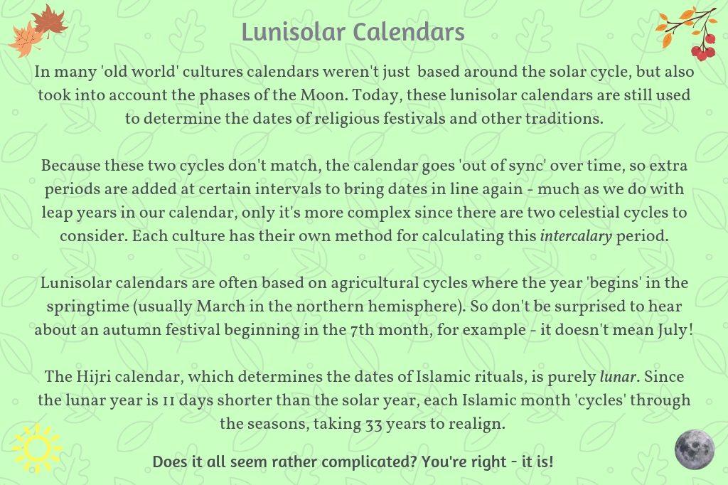 Lunisolar Calendars
