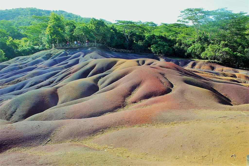 Seven coloured earths in Mauritius