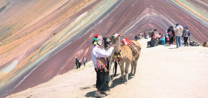 Vinicunca, the 7-coloured mountain (Rainbow Mountain) in Peru