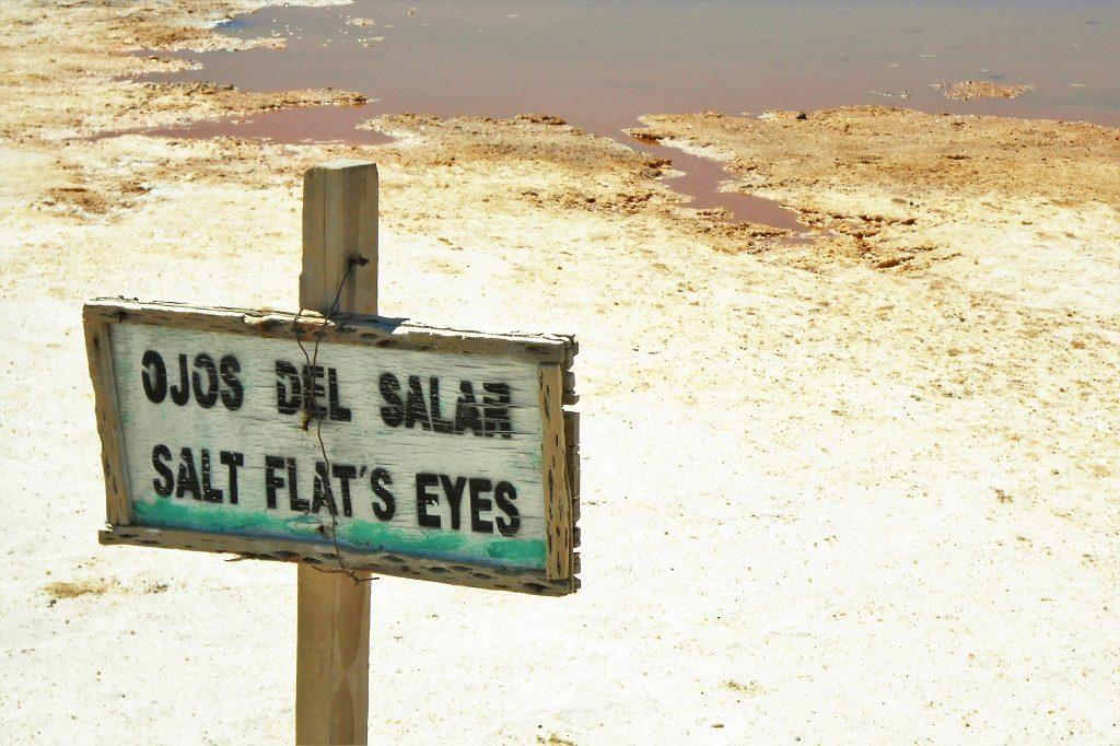 Salt Flat's Eyes at Uyuni